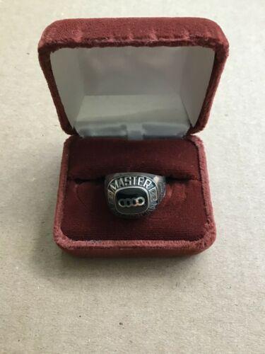 Vintage German  Audi original factory award ring,  Master Technician.