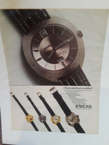 ENICAR. VINTAGE AD. IN SPANISH.