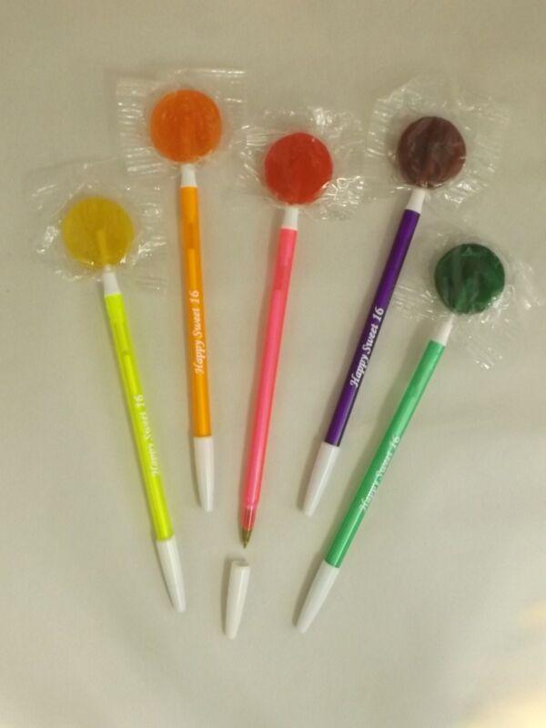 (25) HAPPY SWEET 16! lollipop party favor ballpoint pen