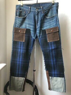 Very Cool Junya Watanabe Comme des Garçons Man Levi's patchwork cropped jeans S