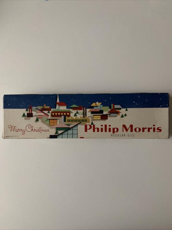 Vintage Philip Morris Merry Christmas Carton 1950's MCM Carton Is Empty