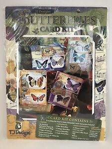 Tweety-Jill-TJ-Designs-BUTTERFLIES-Card-Kit-Kit-for-8-Cards-RF622