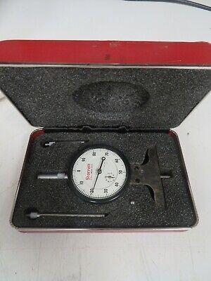 Starrett 12.001 Dial Depth Gage With Case - 3 Tips For Extended Range - Uq22
