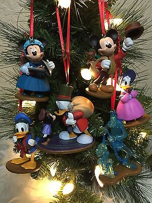 Disney Christmas Ornament 6pc Set Mickey Mouse A Christmas Carol's PVC