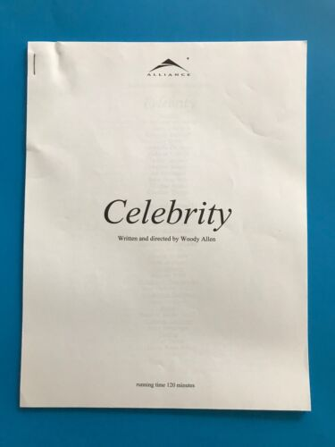 Celebrity (1998) Original Promotional Media Press Kit
