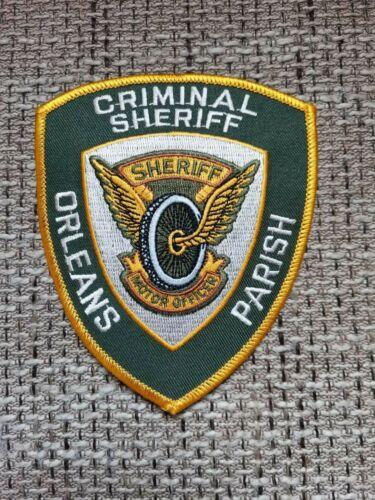 VINTAGE PATCH POLICE CRIMIAL MOTOR SHERIFF ORLEANS PARISH LOUISIANA LA