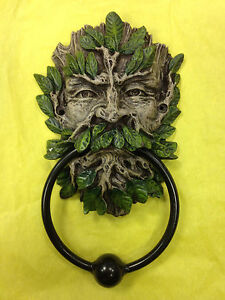 Green man tree face door knocker age wican nemesis now brand new and boxed ebay - Green man door knocker ...