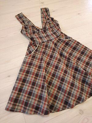 F i.n.t Jumper skirt dress Japan-M Classical plaids checks Lolita&Kawaii Fashion