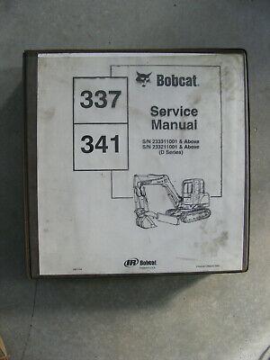 Bobcat 337 341 Excavator Service Manual Binder D Series -from Dealership