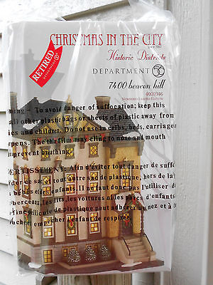 DEPT 56 CHRISTMAS IN THE CITY Historic Districts 7400 BEACON HILL NIB *Read*
