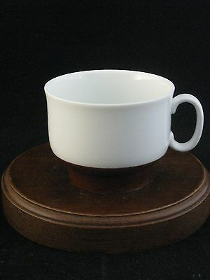 Richard Ginori Fine Porcelain White & Brown Tea Cup Made in Italy