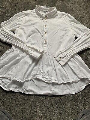 Asos White Peplum Blouse Shirt Jacqueline De Yong Size 40 12