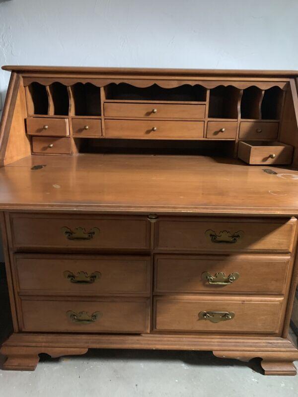Authentic Conant Ball's_Handmade_Maple Secretary Desk