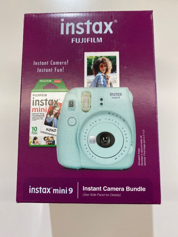 Fujifilm Instax Mini 9 - Ice Blue - Instant Camera Bundle With Film And Cover