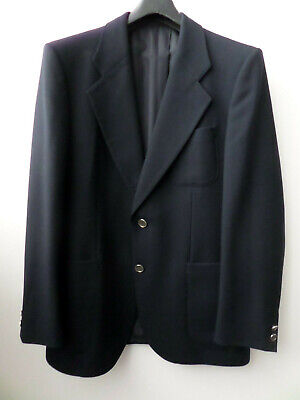 WEST GERMAN MARSDEN INTERNATIONAL NAVY MENS PURE NEW WOOL BLAZER JACKET SIZE L