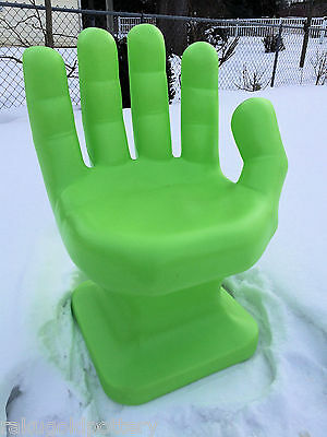 "GIANT Neon/Lime Green HAND SHAPED CHAIR 32"" adult 70's Retro EAMES iCarly NEW"