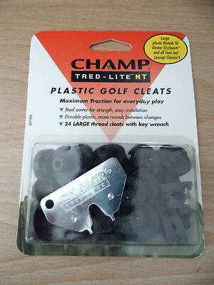 Champ Tred-Lite Plastic Golf Cleats Pack of 24 Brand New & Sealed