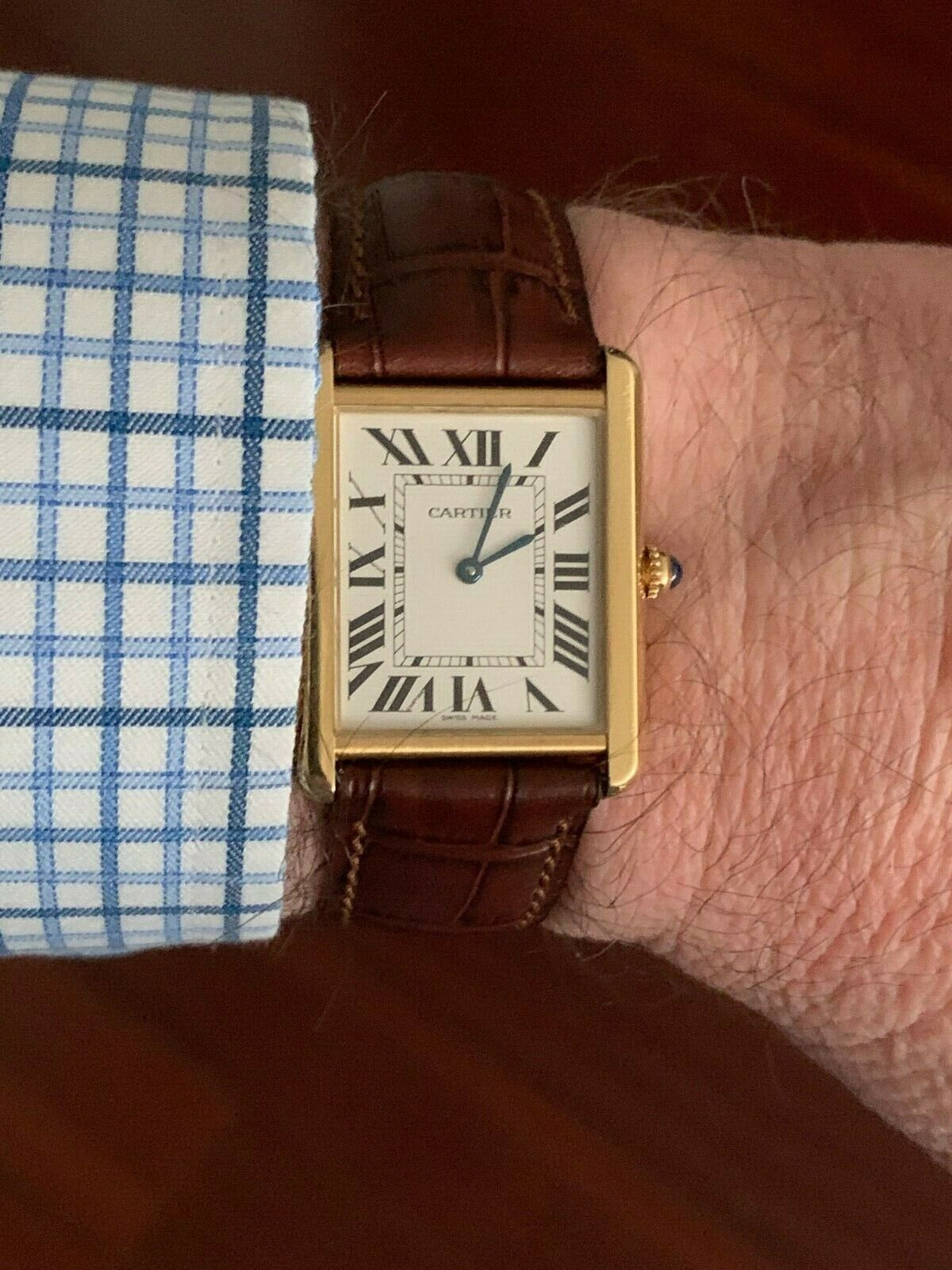 Cartier Tank Solo 18K Yellow Gold & Stainless Steel Quartz - watch picture 1
