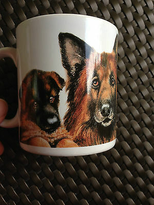 Otter House Rare German Shepherd Dogs Pups Coffee Tea Mugs Made in England