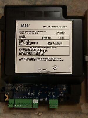 New Asco Power Transfer Switch 1ph 200a 240v 60hz Electronics Only