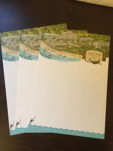 Reef Hotels Vintage Stationary, Waikiki Hawaii, 8 Letter Sheets,