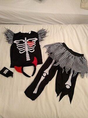 Girls Skeleton Costume for Halloween Fancy Dress - Age 8-10](Scary Halloween Costumes For Girls Age 10)