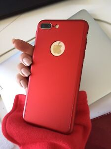 Amazing red case for iPhone 7 plus with screen protector