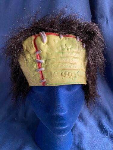 Vintage Universal Monsters Frankenstein Wig Head Piece Halloween Costume Hair
