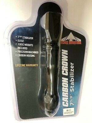 PSE Black Mountain Carbon Crown 7 5/8 inch Archery Bow Stabilizer 6 oz 42414BK