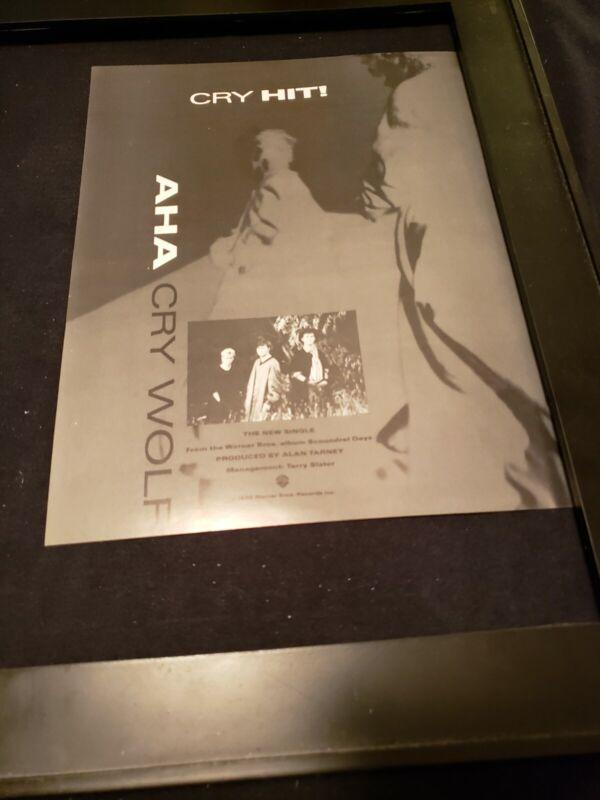 A-ha Cry Wolf Rare Original Radio Promo Ad Framed!