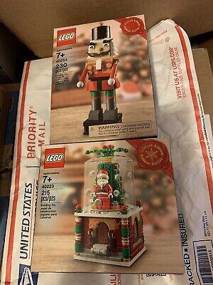 LEGO 40223 40254 Santa Snow Globe Nutcracker Limited Edition Christmas Set New