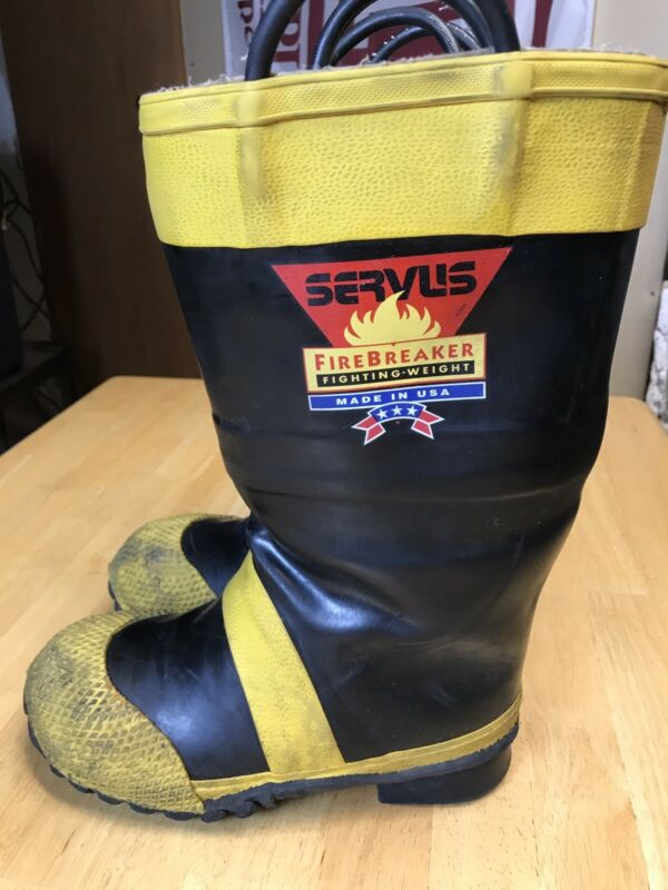 Fireman Authentic Servus Firefighter Boots Mens 7 1/2 W. Field Tested & Approved