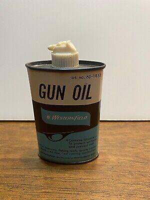 Vintage Original WesternField Gun Oil Tin 3OZ