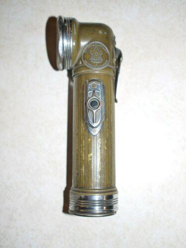 Vintage Eveready Brass Boy Scout Flashlight