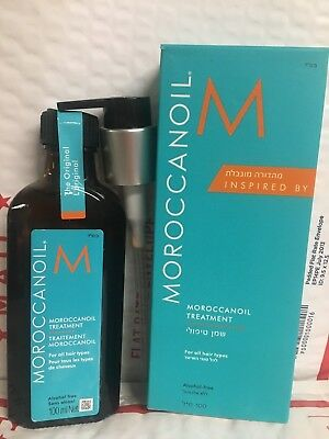 MOROCCAN OIL TREATMENT With Pump 3.4oz / 100mL FRESH NEW FAST MORROCANOIL