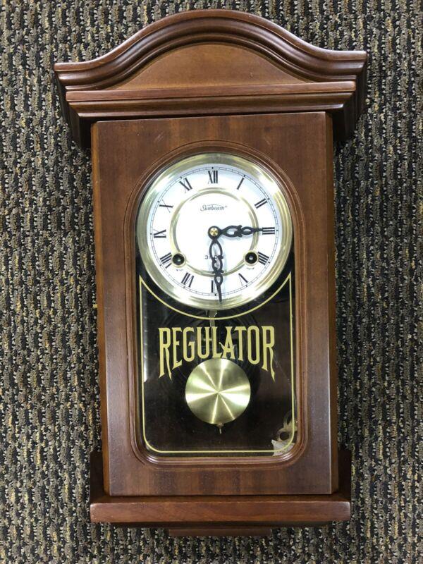 Vintage Sunbeam Regulator Wall Clock, 31-day Keywind Movement