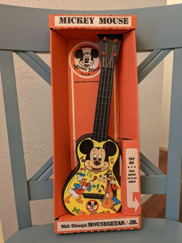 1950s Disney Micky Mouse Club Mousegetar Jr, unopened box, Carnival No.85