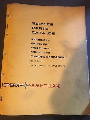 New Holland Service Parts Catalog Model 344 345 345lh Manure Spreader
