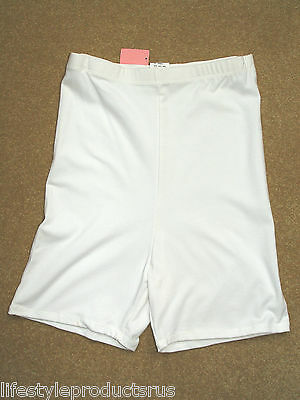 NEW WHITE CROWNETTE 1397 LONG LEG PANTY GIRDLE L LARGE