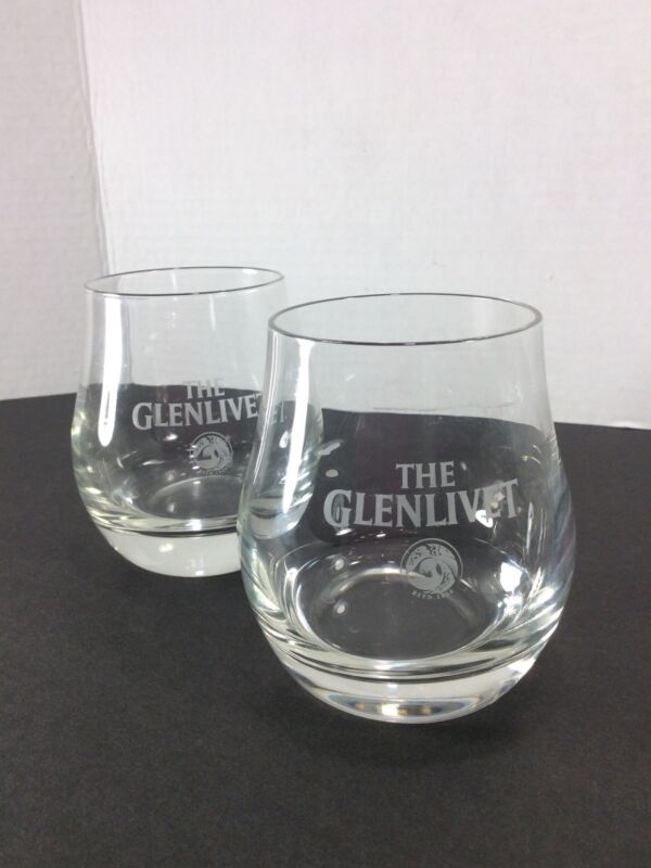 Set Of 2 Glenlivet River Livet Snifter Scotch Whiskey Glasses