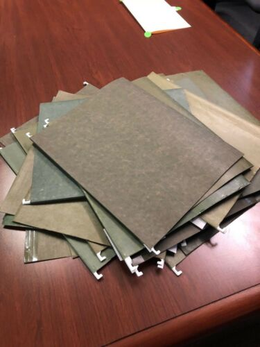 LOT OF 150 LETTER SIZE HANGING FOLDERS