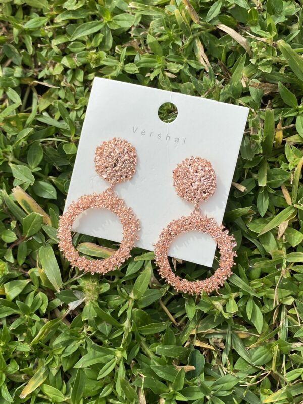 Vintage Fancy Earrings Rose Gold