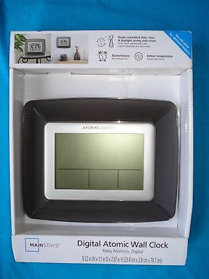 For sale Mainstays Digital Atomic Wall Clock / Brand NEW in Box