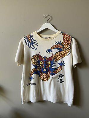 1970s Men's Shirt Styles – Vintage 70s Shirts for Guys 1970s DRAGON T SHIRT $45.00 AT vintagedancer.com