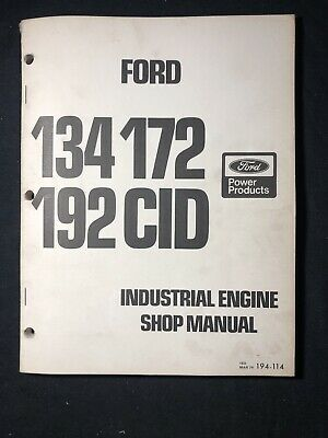Ford 134 172 192 Cid Industrial Engine Shop Manual 643