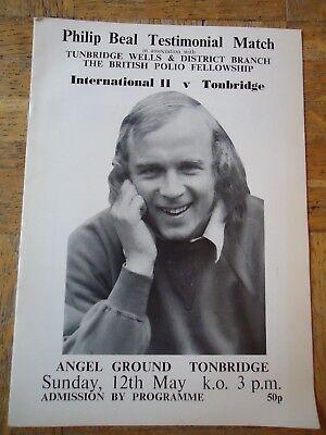 Philip Beal Testimonial International II v Tonbridge 12/5/1974 Excellent