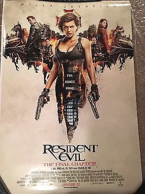 Resident Evil  The Final Chapter 27X40 Double Sided Movie Poster