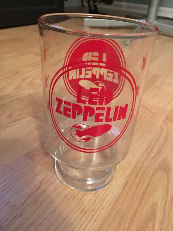 Vintage LED ZEPPELIN Glass-Jimmy Page Robert Plant