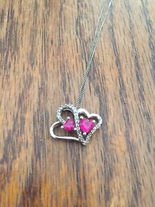 Heart necklace and chain