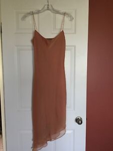 Champagne colour dress from Paris elegant size 1